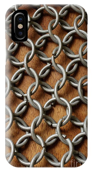 Repeat iPhone Case - Pattern Of Metal Rings by Edward Fielding