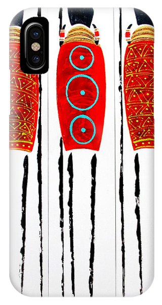 Patterned Masai Triptych IPhone Case