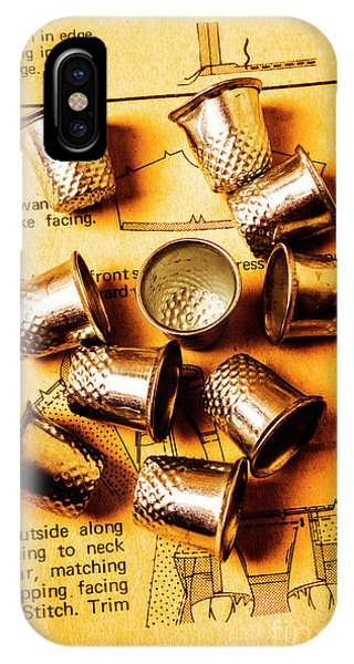 Background iPhone Case - Patterns And Thimbles by Jorgo Photography - Wall Art Gallery