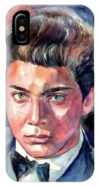 Fantastic iPhone Case - Paul Anka Young Portrait by Suzann Sines