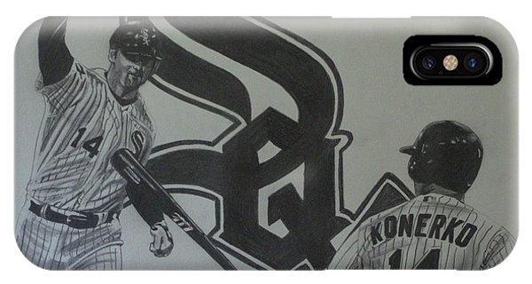 Paul Konerko Collage IPhone Case