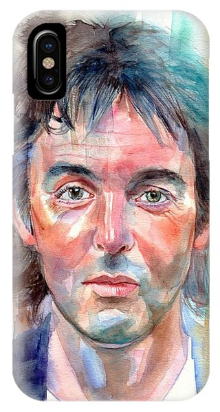 Harrison iPhone Case - Paul Mccartney Young Portrait by Suzann Sines