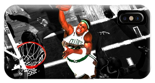 Jason Terry iPhone Case - Paul Pierce In The Paint by Brian Reaves