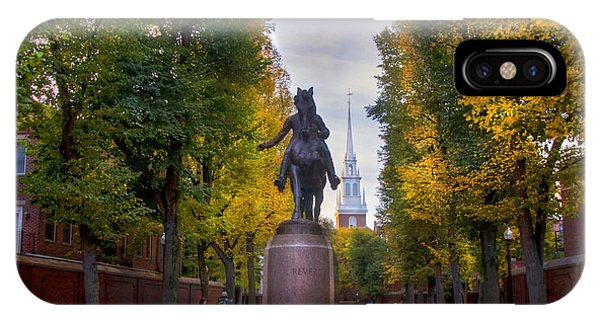 Paul Revere And Old North Church - Boston IPhone Case