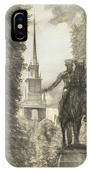 Paul Revere Rides Sketch IPhone Case