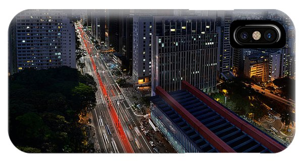 Paulista Avenue And Masp At Dusk - Sao Paulo - Brazil IPhone Case