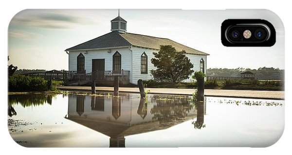 Chapel iPhone Case - Pawleys Chapel Reflection by Ivo Kerssemakers