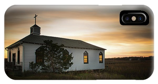 Chapel iPhone Case - Pawleys Chapel Sunset by Ivo Kerssemakers