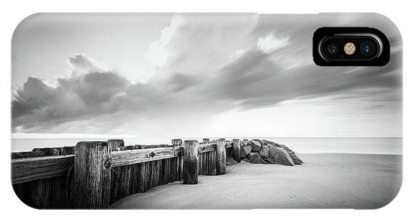 Long Beach Island iPhone Case - Pawleys Island Groin Sunrise Bw by Ivo Kerssemakers
