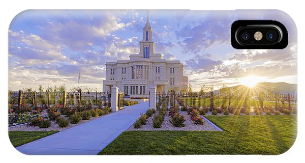 Sunset iPhone Case - Payson Temple I by Chad Dutson