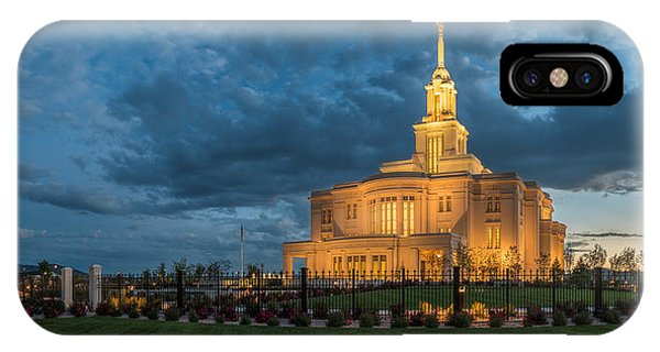 Payson Temple Panorama IPhone Case
