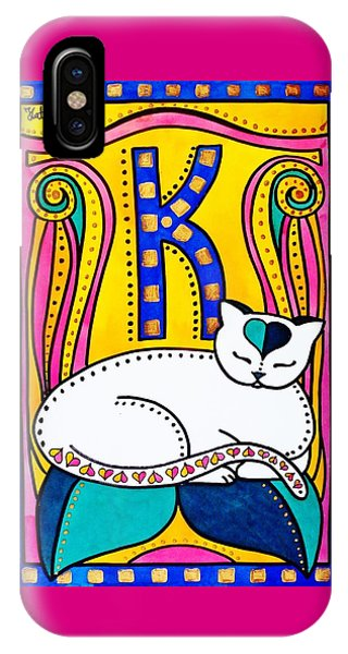Peace And Love - Cat Art By Dora Hathazi Mendes IPhone Case