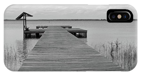 Peace And Serenity II-black And White IPhone Case