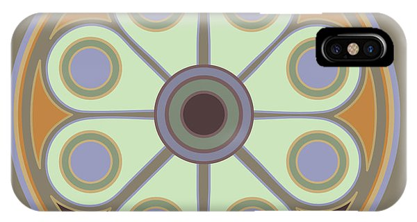 Peace Flower Circle IPhone Case