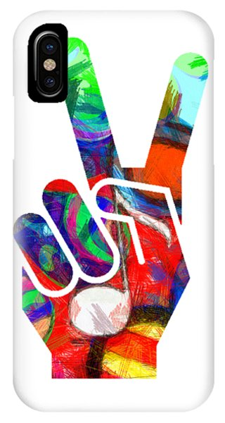 Peace Hippy Paint Hand Sign IPhone Case