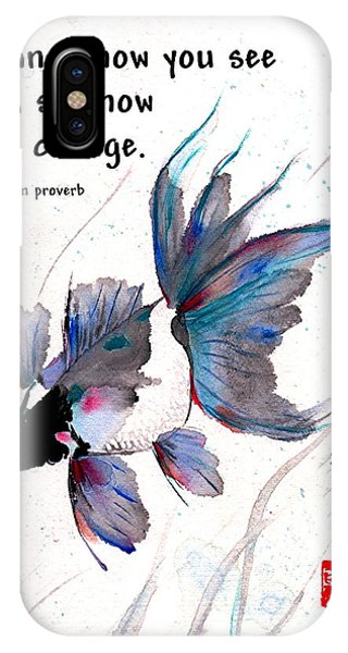 Peace In Change With Zen Proverb IPhone Case