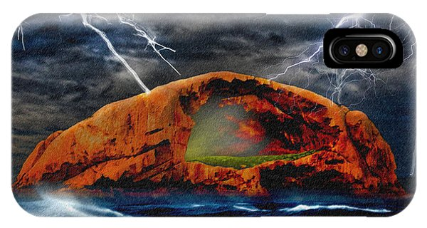 Wilsons Promontory iPhone Case - Peace In The Cleft In The Midst Of The Storm by Chas Sinklier