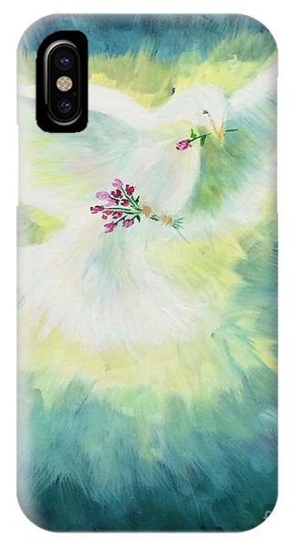 IPhone Case featuring the painting Peace by Lisa DuBois