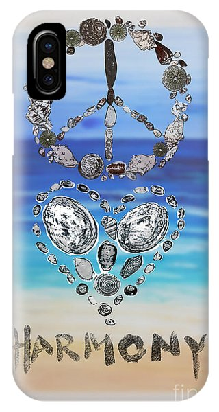 Peace Love Harmony IPhone Case