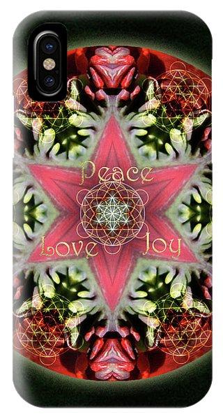 Peace Love Joy Holiday Star IPhone Case