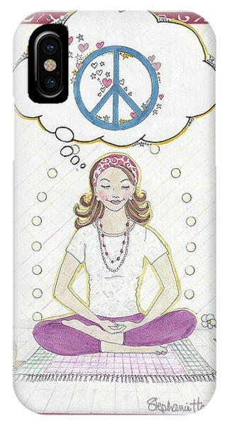 Peace Meditation IPhone Case