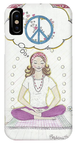 Peace Meditation IPhone Case
