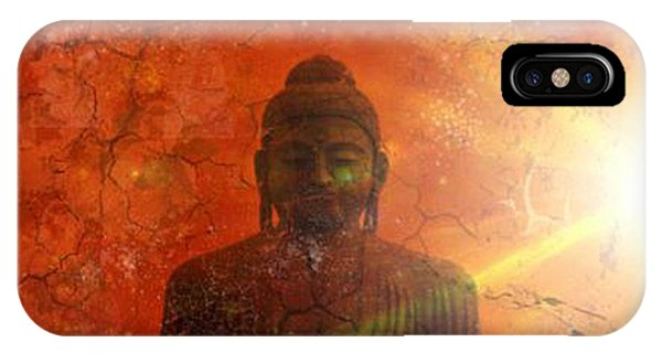 Siddharta iPhone Case - Peace by Michelle Foster