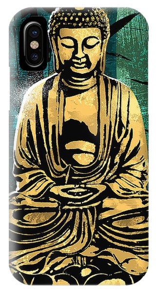 Buddhism iPhone Case - Peace Of Gold by Canvas Cultures