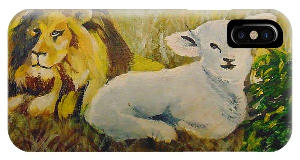IPhone Case featuring the painting Peace by Saundra Johnson