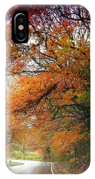 Peaceful Autumn Road IPhone Case