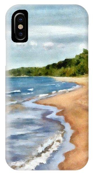 Peaceful Beach At Pier Cove Ll IPhone Case