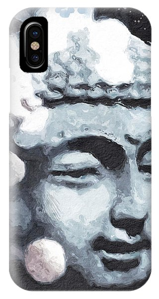Peaceful Buddha 3- Art By Linda Woods IPhone Case