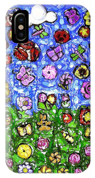Peaceful Glowing Garden IPhone Case