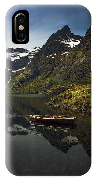 Water iPhone Case - Peaceful Lofoten by Tor-Ivar Naess
