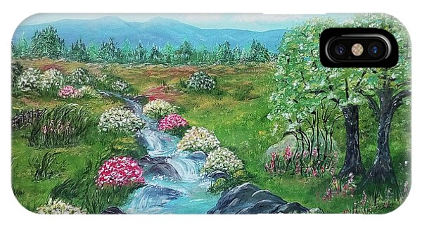 IPhone Case featuring the painting Peaceful Meadow by Sonya Nancy Capling-Bacle