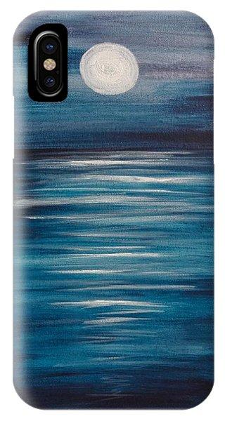 Peaceful Moon At Sea IPhone Case