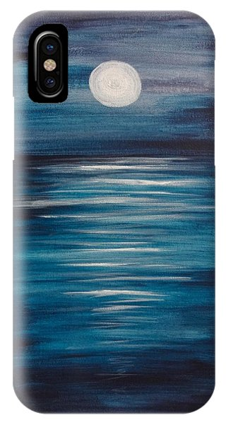 Peaceful Moon At Sea IPhone Case