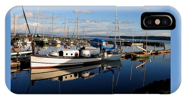 Peaceful Morning At The Harbor IPhone Case