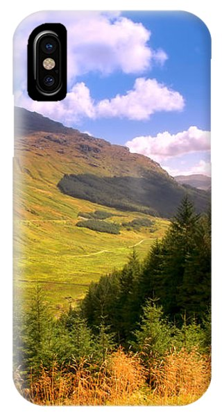 Peaceful Sunny Day In Mountains. Rest And Be Thankful. Scotland IPhone Case