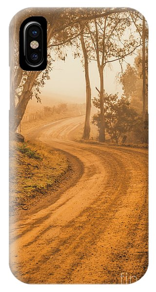Path iPhone Case - Peaceful Tasmania Country Road by Jorgo Photography - Wall Art Gallery