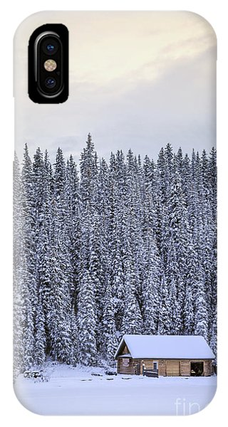 Cabin iPhone Case - Peaceful Widerness by Evelina Kremsdorf