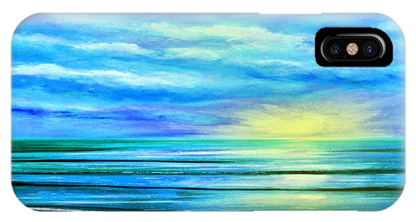Peacefully Blue - Panoramic Sunset IPhone Case