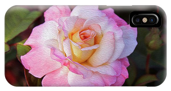 Peach And White Rose IPhone Case