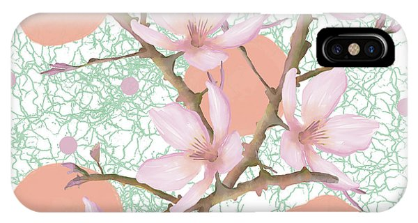 Peach Blossom Pattern IPhone Case