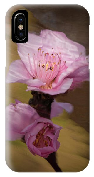 IPhone Case featuring the photograph Peach Blossom Through Glass by David Waldrop