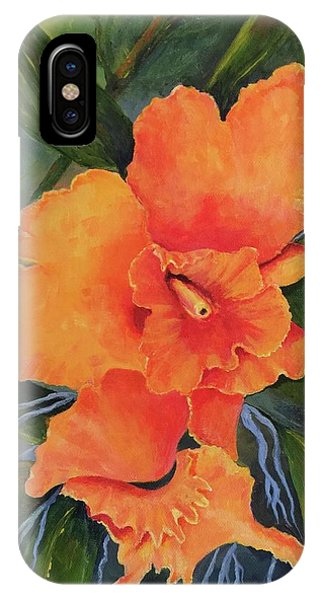Peach  Blush Orchid IPhone Case
