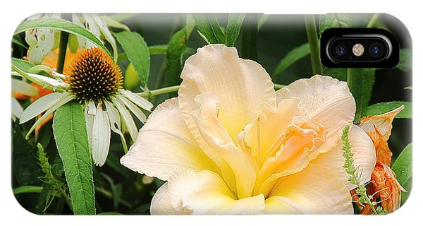 Peach Day Lily IPhone Case