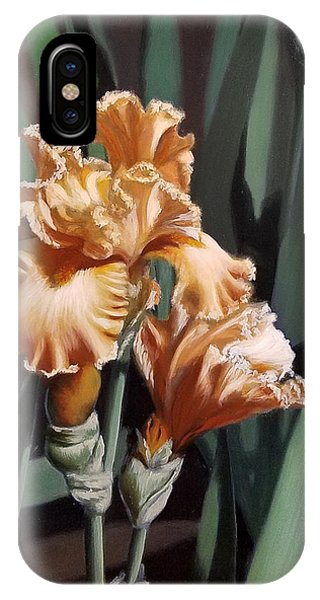 Peach Iris IPhone Case