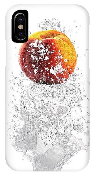 Peach iPhone Case - Peach Splash by Marvin Blaine