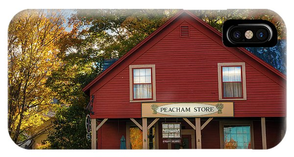 IPhone Case featuring the photograph Peacham Vermont General Store by Expressive Landscapes Fine Art Photography by Thom